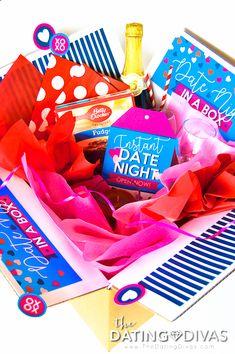 ecc112b0651c Romantic Anniversary Gift or Valentine s Day Present- date night in a box!  Free pritables