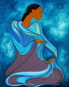 Canadian Modern Art - Water Giver of Life - Maxine Noel (Ioyan Mani)
