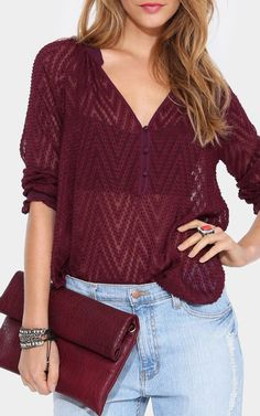 Bethany Blouse in Wine