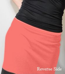 Two Skirts in One - Here a DIY for a cute, reversible knit skirt by modifying  McCall's Pattern #3830.