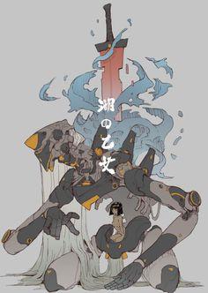 CG illustration of controlled photos - micro-album Fantasy Character Design, Character Design Inspiration, Character Concept, Character Art, Concept Art, Monster Design, Monster Art, Arte Dark Souls, Japon Illustration