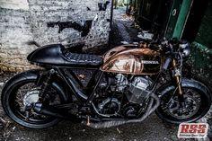 Robinson's Speed Shop Cb750 Copper tank, photo by Aaron Jones Photo (via RocketGarage)