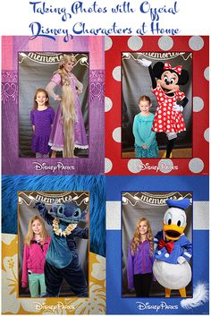 Taking Photos with Official Disney Characters At Home using the Disney Memories HD app for Android and iPhone