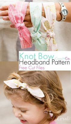 Woven Knotted Bow Headband Pattern with SVG Cut Files for Cricut Maker - Coral + Co.