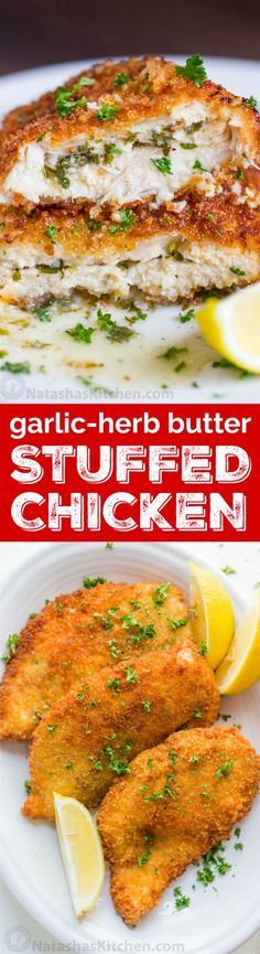 Garlic-Herb Butter Stuffed Chicken