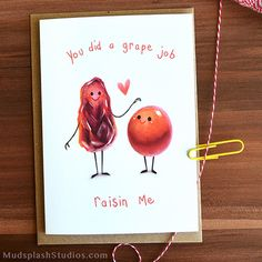 Fathers Day Card Pun Card Thanks Dad Card. by MudsplashStudios