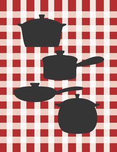 Ilustrações para cozinha