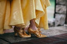 Belle Aesthetic, Princess Aesthetic, Disney Aesthetic, Live Action Movie, Action Movies, Embellished Shoes, Disney Beauty And The Beast, Gold Shoes, Court Shoes