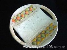 Cuencos y Bandejas Ceramic Plates, Decorative Plates, Biscuit, Pasta Piedra, Slab Pottery, Decoupage, Clay, Jars, Pasta Shapes