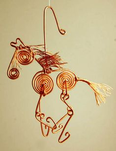 Cute Copper Wire Horse Ornament Made to by brightstrangethings, $28.00