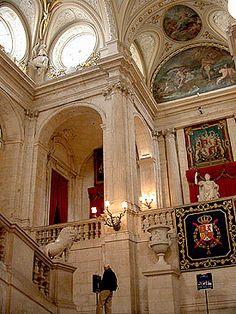 Interior of Royal Palace, Madrid. Spain