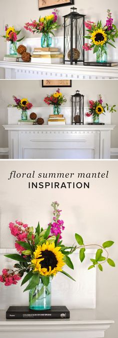 Does your mantel need a fresh dose of summer? Get inspired by this beautiful and vibrant summertime mantel display. Your space will be beaming with beauty in no time!