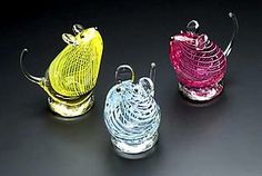 Glass Mice: William Bernstein: Art Glass Sculpture