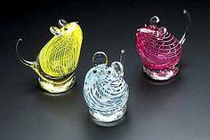 Glass Mice: William Bernstein: Art Glass Sculpture