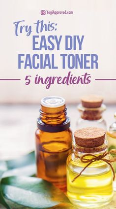 Learn how to make this easy facial toner with only 5 natural ingredients. This DIY face toner will give you radiant, healthy pH balanced skin. Natural Face Toner, Toner For Face, Natural Facial, Natural Skin Care, Natural Beauty, Moisturizer For Oily Skin, Skin Toner, Facial Toner, Homemade Facials