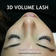 A great set of 3D Volume Lash extensions from Lash Beauty! #lashbeauty #sandiego #eyelashextensions