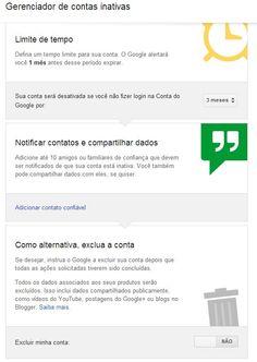Serviço do Google permite gerenciar o que acontece com contas mortas. Dados podem ser acessados por amigos configurados.