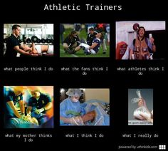 Athletic trainers, What people think I do,