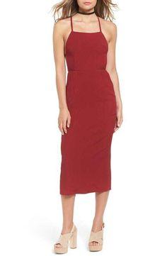 Stone Cold Fox 'Camellia' Strappy Tie Back Midi Dress