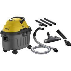 Aspirador De Po E Agua Com Escovas 220v Work10 Amarelo E Cinza Tekna