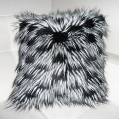 Punk Faux Fur Pillow Punk and Spikey, an edgy black and white faux fur pillow for a touch of boldness. - See more at: http://www.dragon88.com/pillows/pillows/punkfauxfurpillow.html#.dpuf