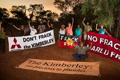 For almost 3 months now, the Yawuru Traditional Owners and members of the Broome community have been blockading Buru Energy's proposed fracking sites in the Kimberley. It's time Buru Energy gets the message and fracks off!