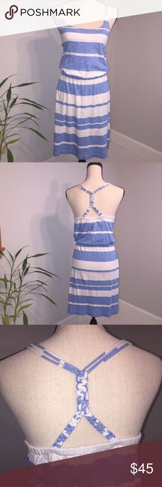 Lilly Pulitzer Stripe Dress Super Comfortable Lilly Dress 100% Pima Cotton  Knotted Racerback Detail Elastic Waist  A must have for summer! EUC Lilly Pulitzer Dresses