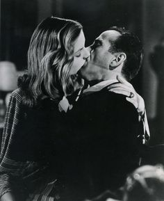 To Have and Have Not ~ Lauren Bacall and Humphrey Bogart kiss. Classic Hollywood, Old Hollywood, Bogie And Bacall, Beaux Couples, Romantic Couples, Movie Kisses, I Love Cinema, Hollywood Couples, Star Wars