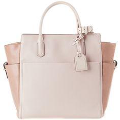 Reed Krakoff Camel Nude Bag Atlantique (€1.550) ❤ liked on Polyvore featuring bags, handbags, purses, bolsas, accessories, pink canvas bag, canvas bag, camel handbag, reed krakoff purse and nude handbags