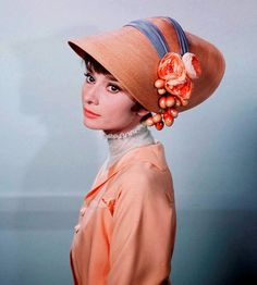 "Audrey in her ""Show Me Now"" costume for 'My Fair Lady'. Perfect!"