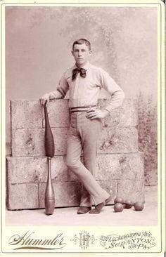 Cabinet-Card-Photograph-Teen-Boy-Exercise-Indian-Clubs-1890s-Scranton-PA