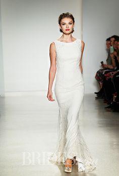 A boat-necked @annebargebride #weddingdress | Brides.com