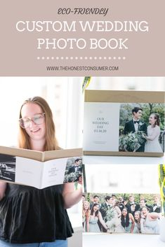I chose to customize the Layflat Wedding Photo Book. Paper Culture's easy to use design platform allows brides to take a pre-made template and customize the sustainable photo book. Customers can upload pictures, add text, add extra pages, and create an ideal book featuring all of the best moments from the wedding. When I made our photo book I tried to highlight our friends and both families to showcase our loved ones celebrating love on our special day. #sustainablewedding #weddingphotobook Wedding Photo Books, Wedding Photos, Paper Culture, Sustainable Wedding, Upload Pictures, Bridesmaid Dresses, Wedding Dresses, Special Day, Highlight