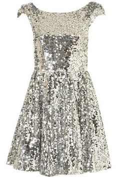 Allover Sequin Prom Dress By Dress Up Topshop** - Dresses  - Apparel