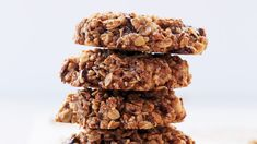These hearty treats are like a granola bar and a cookie rolled in one. Homemade pecan flour is simple to make. Grind nuts 1 cup at a time to avoid overprocessing (which will result in pecan butter). This dough is sticky and a bit crumbly (but hey, it's gluten-free and vegan!) -- use damp hands to flatten. Cookies will crisp as they cool.