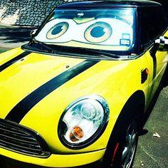 Eyeshades - Custom eyes for your car Mini Cooper Models, Fire Eyes, Custom Eyes, Car Colors, Wicked Witch, Car Makes, Jack Black, Eye Color, Bag Storage