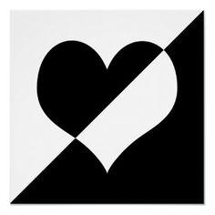 Black n white Black And White Heart, Black And White Posters, Black And White Prints, Black White Red, White Art, Heart Art, Love Heart, Illustrations, Shades Of Black
