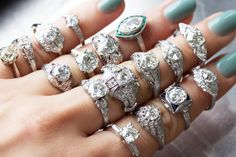 Pick your favorite from Victor Barbone Jewelry! A curated selection of unique vintage engagement rings!
