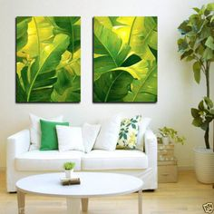 Hand Painted Contemporary Abstract Green Banana Leaves High Quality Canvas Oil Painting Wall Art Decoration No Framed Cheap Paintings, Painted Leaves, Hand Painted, Tropical Art, Art Moderne, Painted Floors, Floor Decor, Decorative Tile, Texture Art