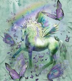 Mountain Unicorn | The Mountain Unicorn T-shirt | Unicorn and Butterflies:
