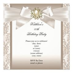 dd8d8a708513782ebcf774fa6a5ad8aa elegant birthday party birthday parties royal gold on white pearl elegant birthday party card invitation,Elegant Birthday Invitations