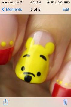 Winnie the Pooh Nails #nailart #nail #art #winnie #the #pooh #disney