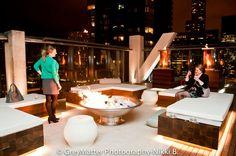 Vertigo Sky Lounge roof deck at the @Dana Curtis hotel and spa in Chicago