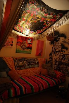 Thinking of turning the bedroom into a meditation room and moving the bed into the living room - making it look like a studio but with a twist! Description from pinterest.com. I searched for this on bing.com/images