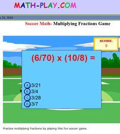 Soccer Maths- Multiplying Fractions Game