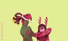 christmas sweaterssss bonus grandma ana made them