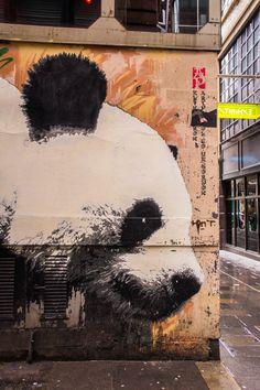 Discover Glasgow's Street Artists and their Best Murals - Klingatron, Glasgow's Panda| The Travel Tester - Self-Development through travel