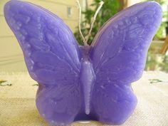 Vela de mariposa por KnitsandWicks en Etsy