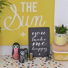 carte postale You make me happy ardoise Cinqmai - deco-graphic.com