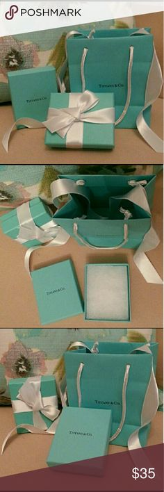 ❤ Tiffany & Co Boxes, Bag & Gift Cards 1 bag, 2 boxes, 2 white tiffany ribbons (iron for a perfect touch) & 2 gift cards (embossed) Tiffany & Co. Jewelry
